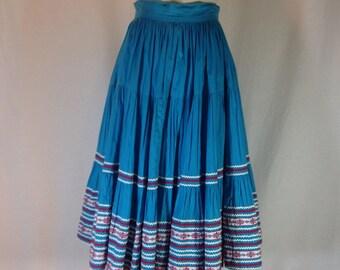 Vintage blue twirly skirt