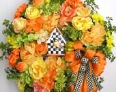 Spring Wreath, Easter Wreath, Mother's Day Wreath, Bird House Wreath, Summer Wreath