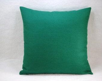 Jade Green Pillow Jade Green Linen Pillow Linen Pillow Decorative Pillow Accent Pillow 18x18 Pillow Cover