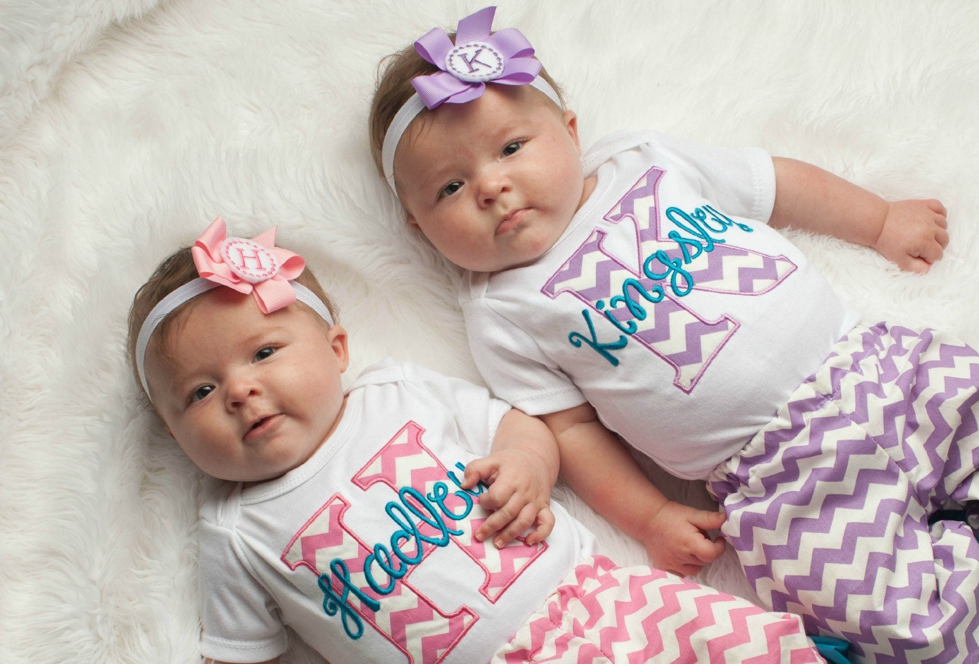 Baby girl clothes twin girls take home outfit chevron