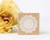 Lace Rubber Stamp, Lace Stamp - Pattern B