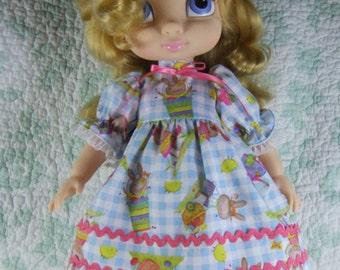 Handmade Doll Clothing Dress set for Disney Animator 16 inch Dolls Spring Easter