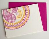 Hindu - Moroccan - letterpress card