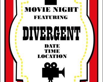 Movie Night Birthday Invitation