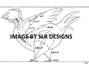 Chicken Diagram - Side Veiw