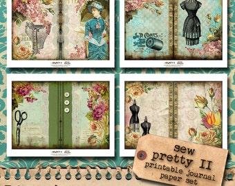Sew Pretty II - Printable Journal Paper Set