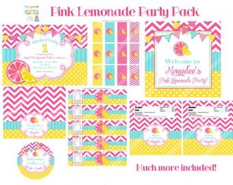 PINK LEMONADE - party pack - You PrinT - BIG pack