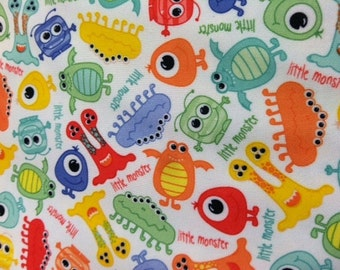 PUL - Monsters - Diaper Cut - 21x24