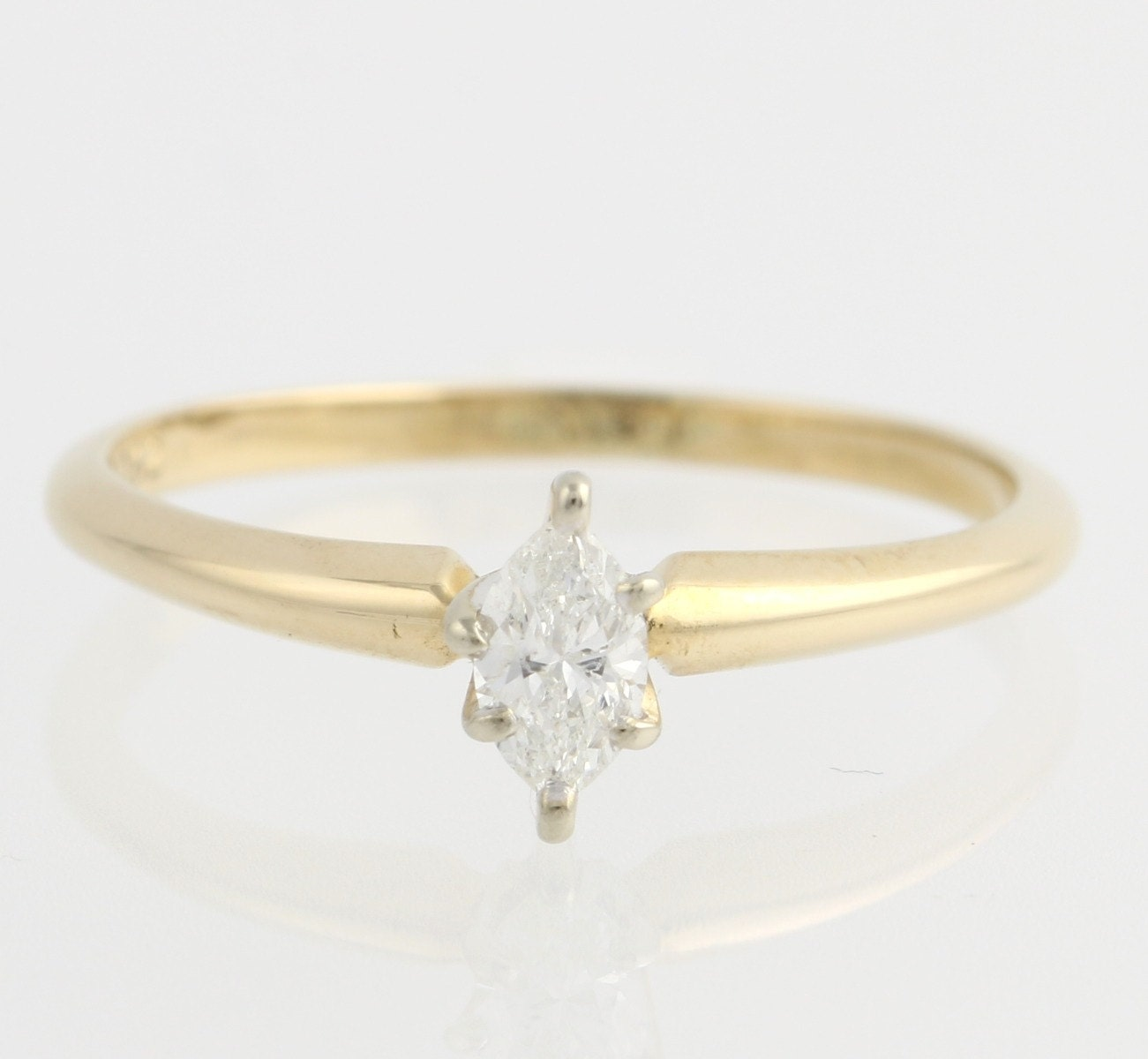 marquise diamond solitaire engagement ring 14k by wilsonbrothers