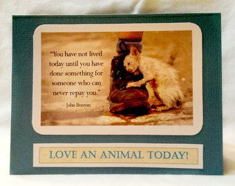 you have not lived till you do something for someone who cannot repay you  Set of 2 Greeting Cards
