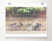 purple bicycle photograph Cambridge photograph travel photography wanderlust art black bicycle print Cambridge print