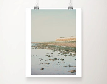 beach photograph Hunstanton photograph ocean photograph cliff photograph English decor England photograph Hunstanton print