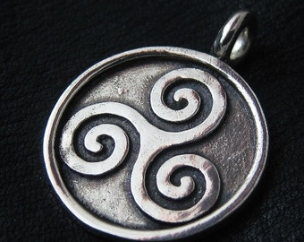 Silver Triskelion pendant