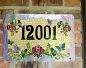 Custom House Numbers Mosaic