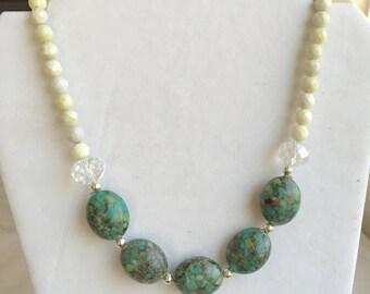 Mosaic turquoise necklace