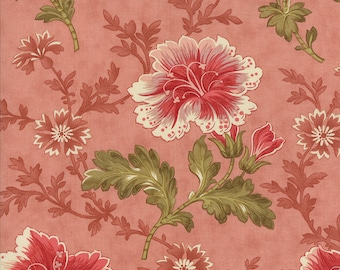 Autumn Lily pink buds large floral by Blackbird Designs for moda fabrics