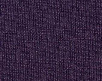 Heavy Linen Look - Multi-purpose Upholstery Fabric. Soft Texture. Decorative Look of Linen- Duty Free to Canada - Color:Eggplant - per yard