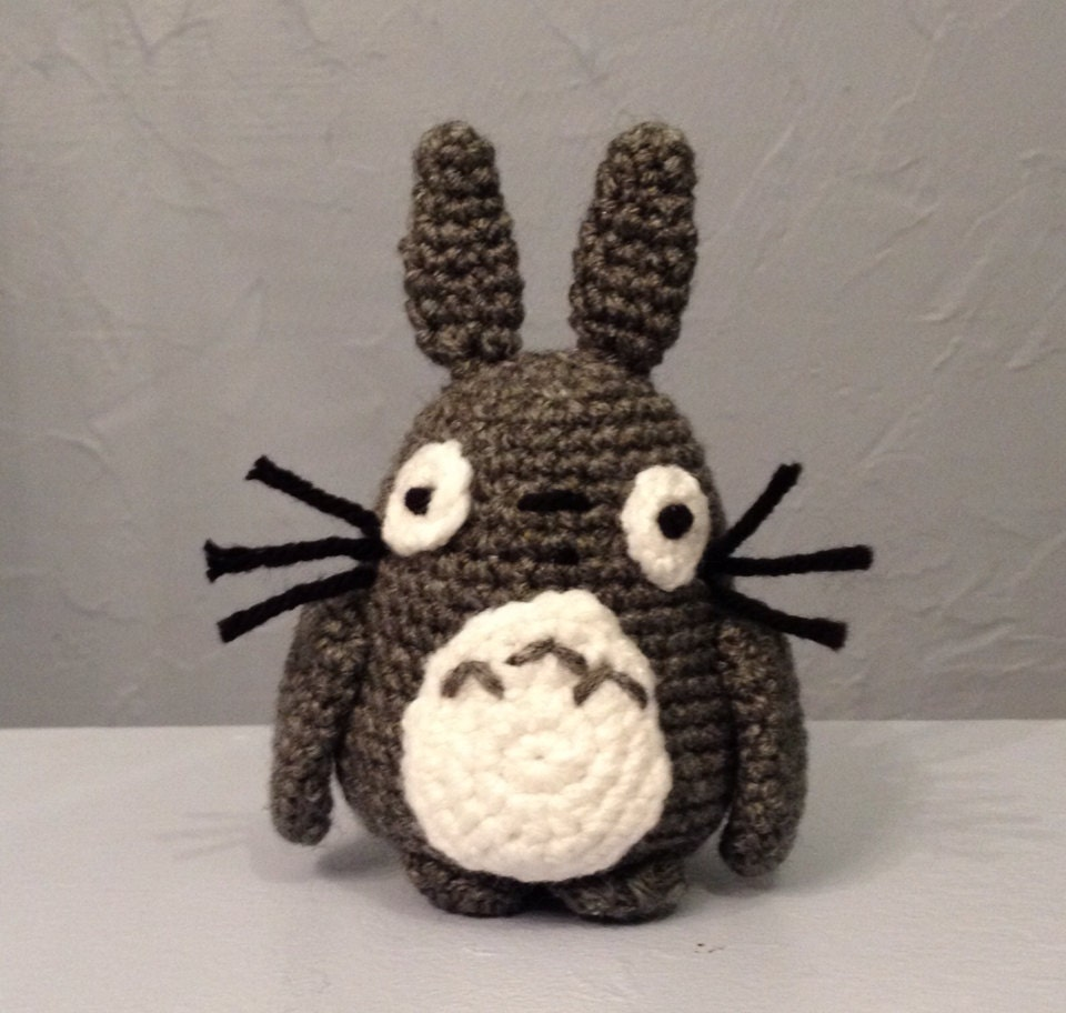 Amigurumi Pointed Ears : TOTORO Crocheted Doll Amigurumi by meddywv on Etsy