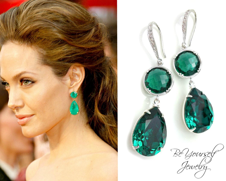 Emerald Green Teardrop Earring - 300.0KB