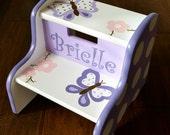 Butterflies and Flowers Step Stool, Bathroom Furniture