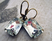 Vintage Earrings Bridal Earrings Bridal Jewelry Clear Rhinestone Crystal Earrings Wedding Earrings Bridesmaid Gift Estate Style Earrings