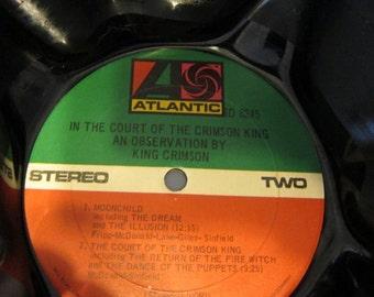 Vinyl Album Bowl - Recycled King Crimson Vinyl Record Album