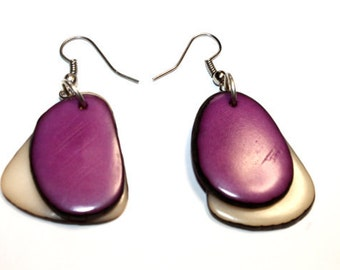 Tagua-Nut Earrings, Boho Jewelry, Boho chic