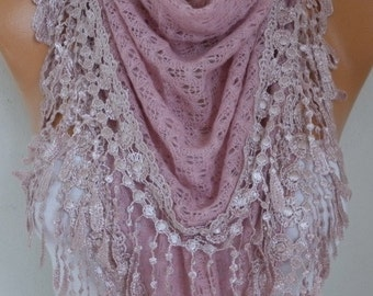 Knitted Lace Scarf Shawl Cowl Oversized Bridesmaid Bridal Accessories Gift Ideas For Her Women Fashion Accessories Mother Day Gift