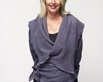 Bodhi Wrap Hemp Jacket - hemp, organic cotton jersey/fleece