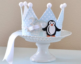 Winter Penguin Crown, Birthday Crown, special occasion, dress up, photo prop