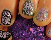Visions of Sugarplums Christmas/ Holiday 2014 Indie Nail Polish Purple Lavendar Teal Glitter Ovarian Cancer