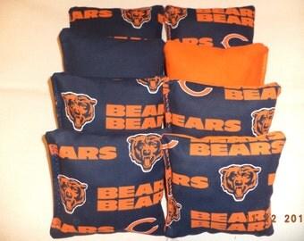 Cornhole bags Chicago Bears corn hole bean bags 8 ACA regulation beanbag toss