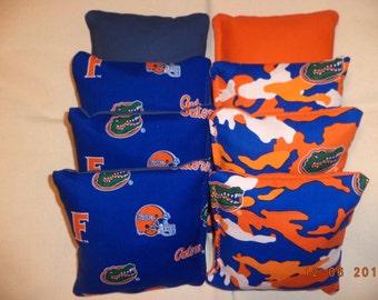 Cornhole bags Florida Gators bean bags 8 Aca regulation tailgate corn hole bag game