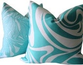 Oudoor Pillow - Turquoise Outdoor Pillow - Turquoise Toss Pillow - Outdoor Cushion - Decorative Pillow - Sunbrella Pillow - Outdoor  Cushion