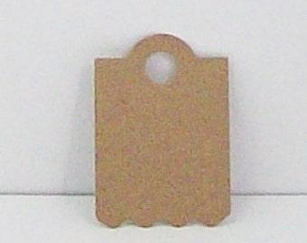 60  Kraft Hang Tags, Price tags, embossed hang tags, embossed gift tags, embossed Kraft paper tags
