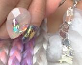 Pink Aurora Borealis Crystal Alien Ring Aurora Iridescent Aliens Coachella Festival Fashion
