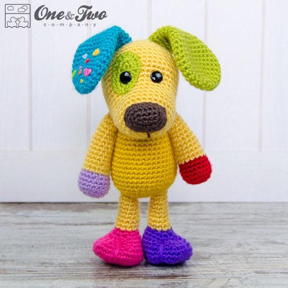 Amigurumi Lion Perritos : Scrappy el amigurumi perrito feliz arco iris por