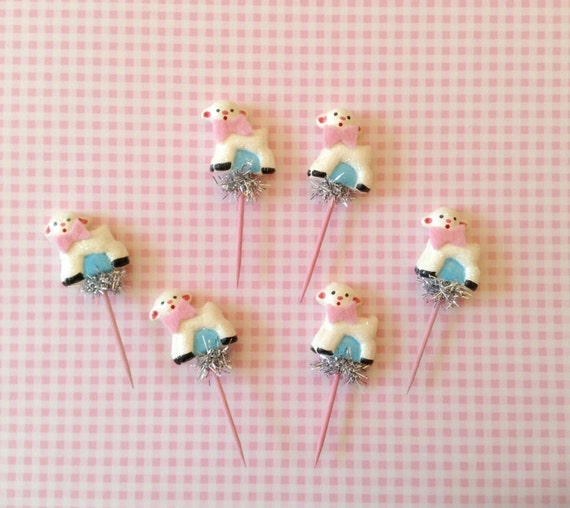 RESERVED Sweet Baby Lamb Cupcake Topper