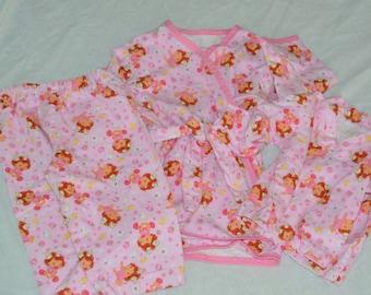 Childrens Pajamas With Robe Sizes 1 - 6X