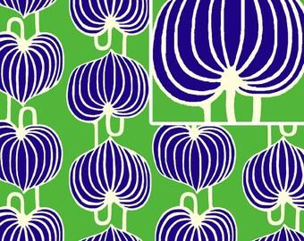 lark fabric, amy butler, chinese lanterns - grass, 1 yard