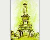 Abstract Eiffel Tower painting Original Paris Art Modern oil painting on canvas Paris France Art Home decor