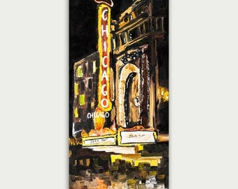 Original Abstract Chicago Art, Oil painting On Canvas, Contemporary, Textured Painting, Broadway Art,  Home decor