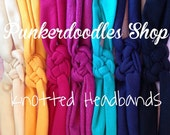 handmade jersey knit, sailor knotted headbands