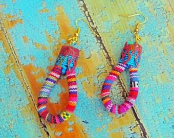 Earrings ethnic weaving