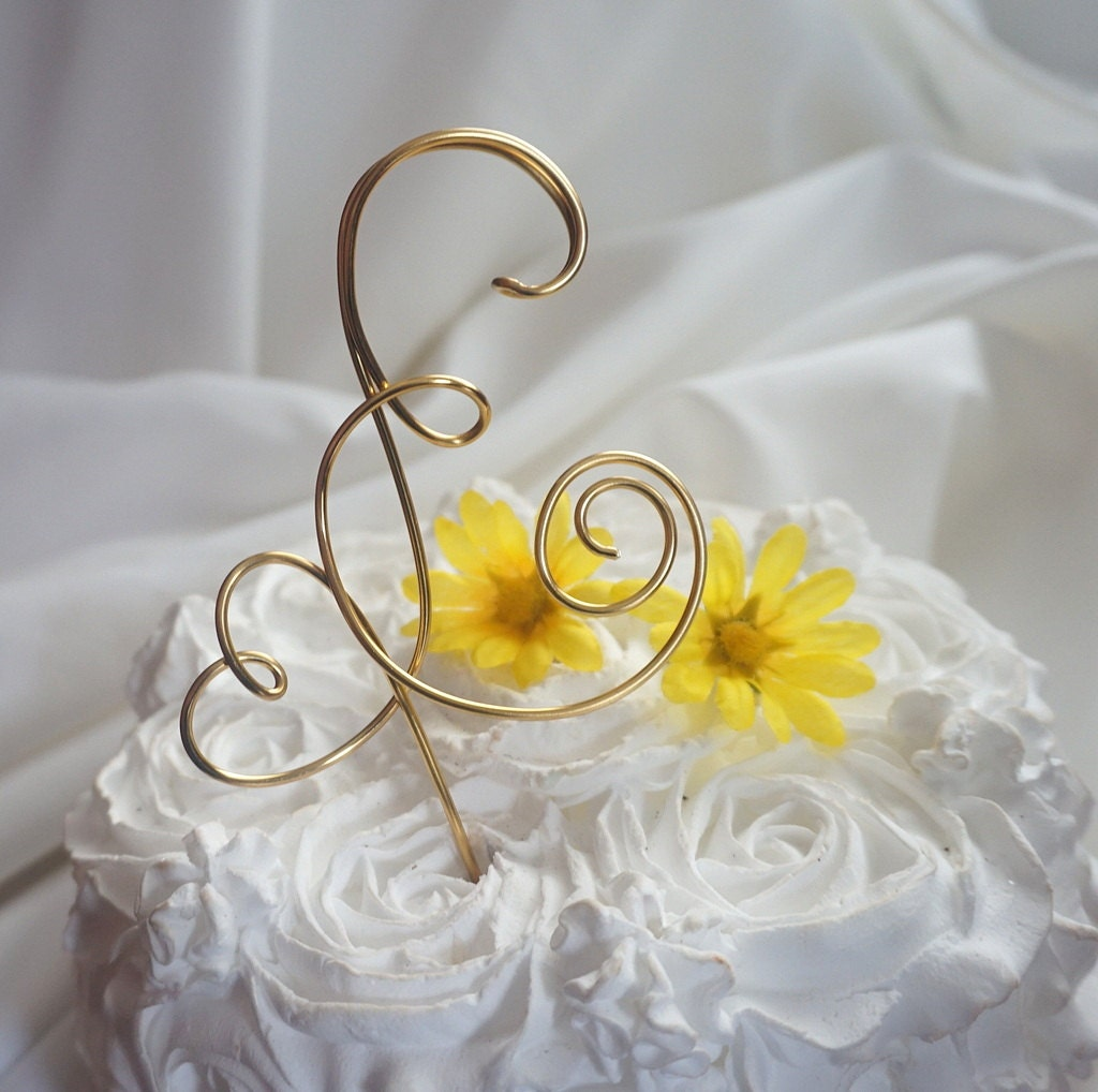 Letter Cake Topper Rustic Wedding & Party Decor