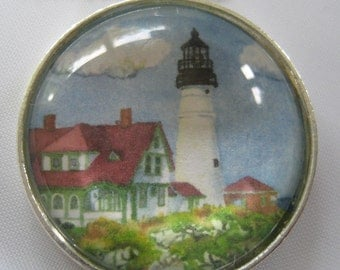 Lighthouse Necklace - Watercolor