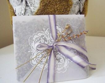 Lavender Vellum Sachet Favor