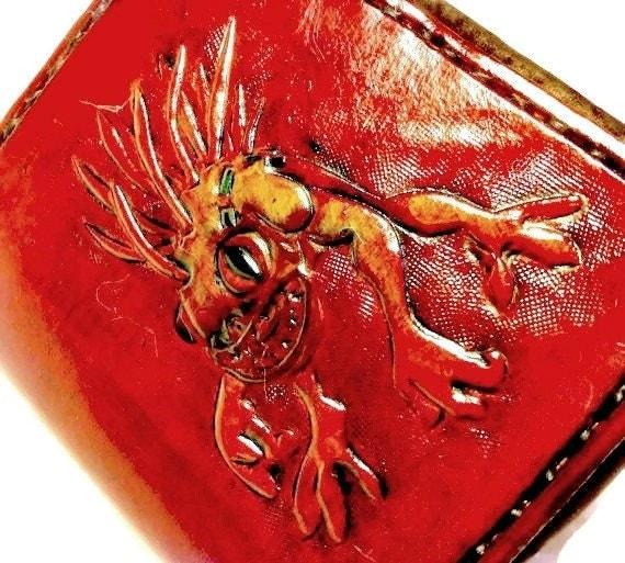 World of Warcraft - Warcraft Wallet - Murloc - Leather Wallet - Gamer Gift - Gamer Girl - Dad Gift - Geek Gift. Holds 8 Cards,1 Bill Slot