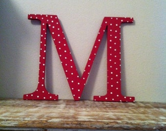 Wooden Wall Letter - Hand-Painted - Roman Font - M