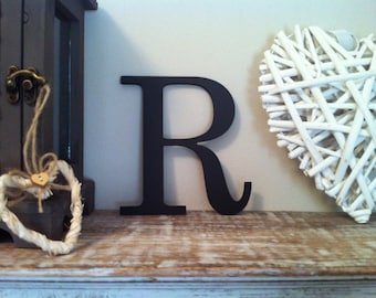 Wooden Wall Letter - Hand-Painted - Roman Font - R
